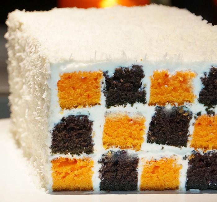 Recette du super gâteau damier pour Halloween
