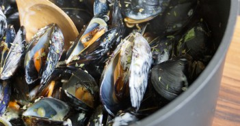 moules au curry et lait de coco