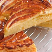 Traditional French Galette des Rois with almond filling