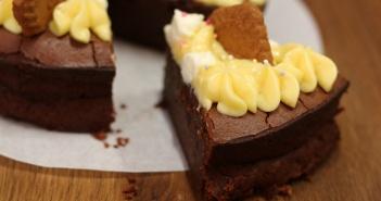 Gâteau moelleux chocolat marrons