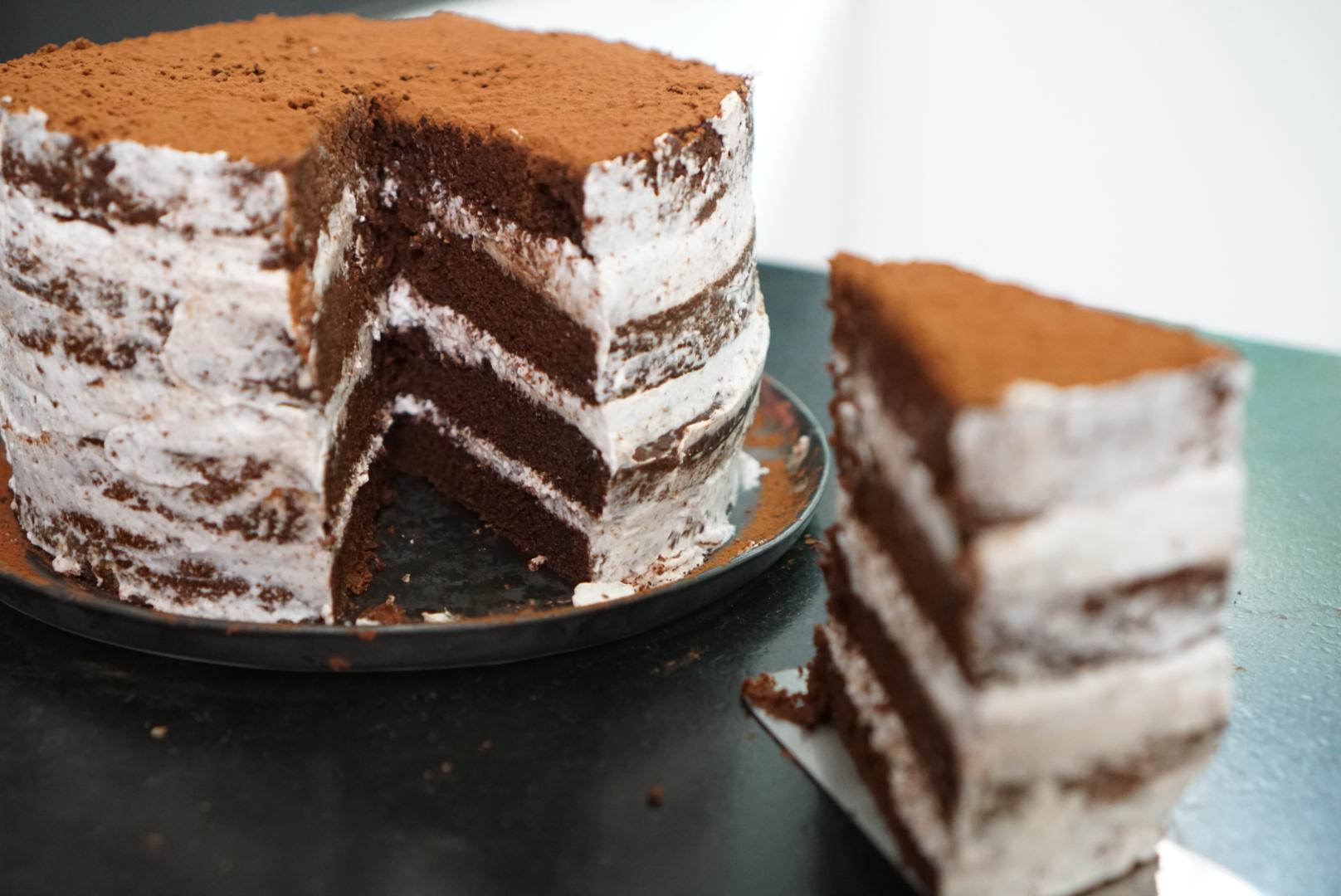 Recette du gâteau chocolat vegan à étage ou layer cake ...
