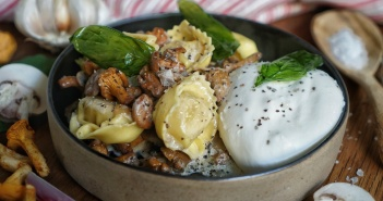 recette pates au poulet champignon