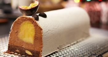 recette buche de noel au chocolat et fruits exotiques