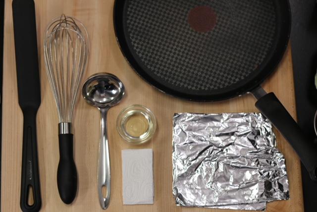 matériel recette crêpes