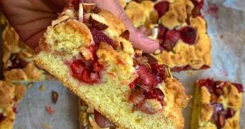 recette-gateau-rhubarbe-framboises