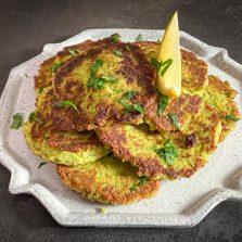 recette galette brocolis pois chiches
