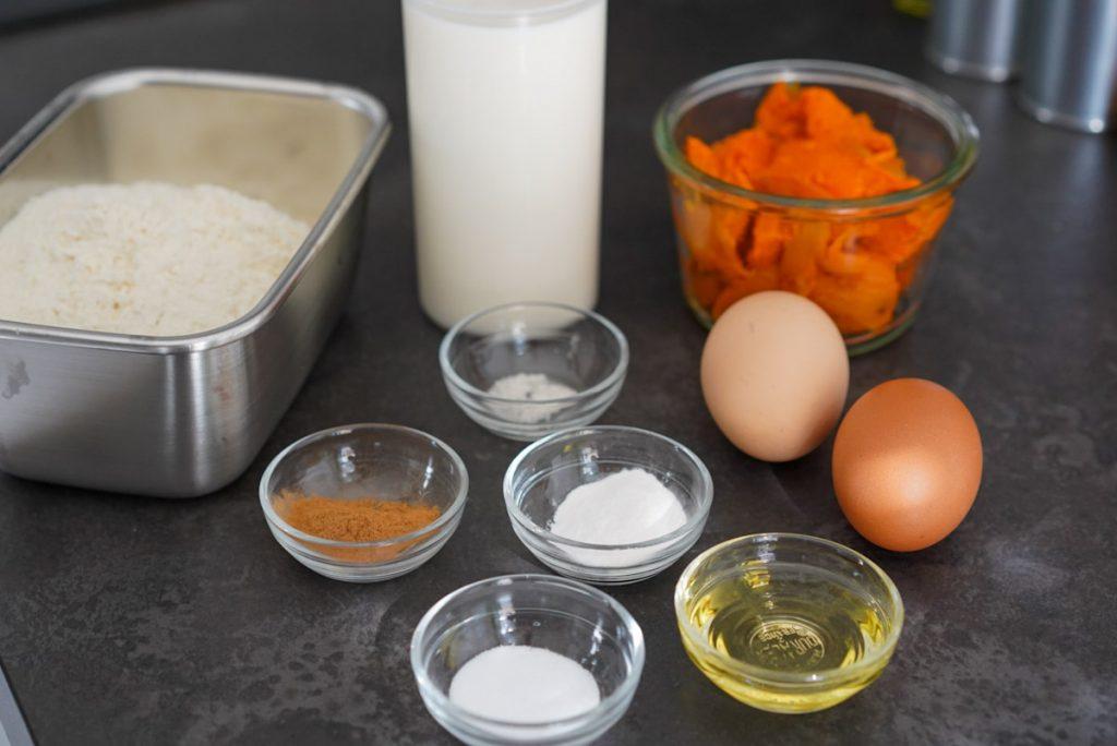 ingrédients pancakes patate douce