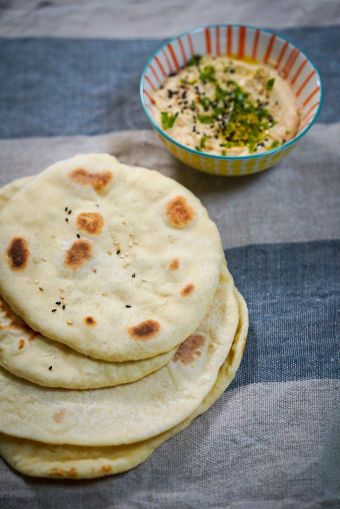 recette pain pita et houmous