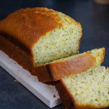 cake orange pavot