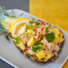 recette ananas bol au riz et poulet