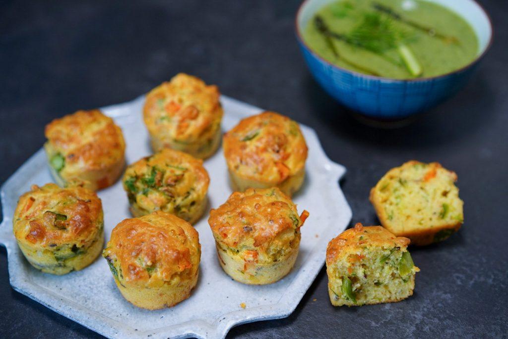 Muffins Sales Aux Legumes Asperges Carotte Et Fromage Hervecuisine Com