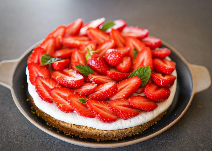 recette tarte aux fraises sans cuisson