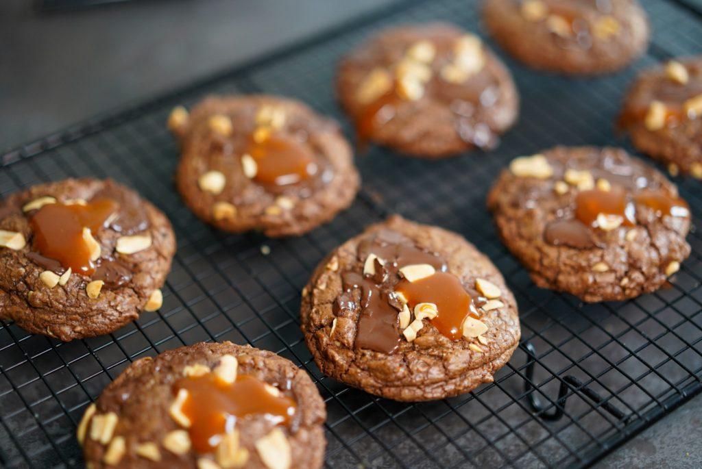 cookies chocolat caramel cacahuetes