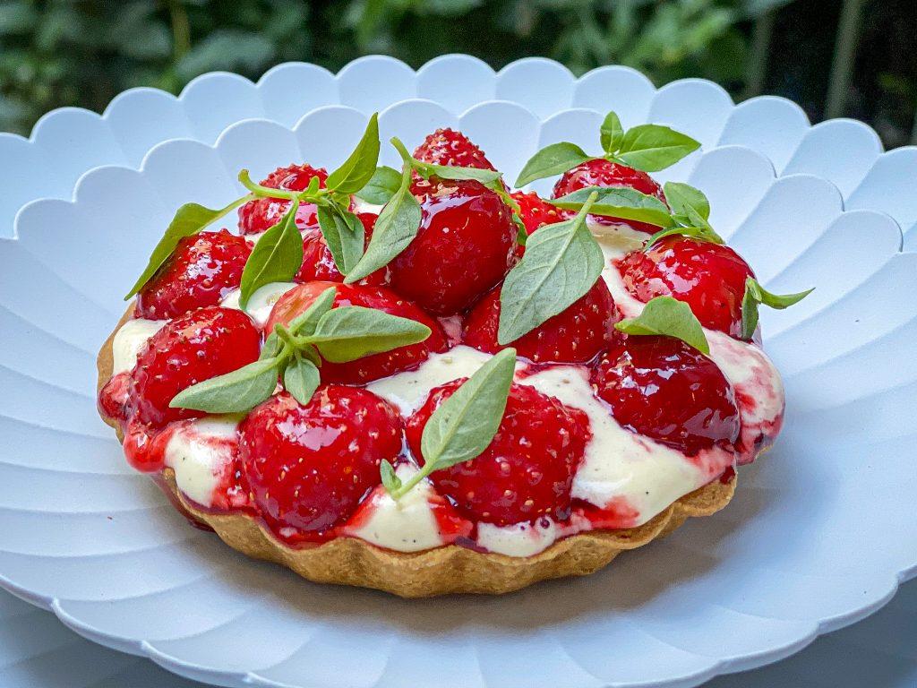 tarte fraise crème vanille