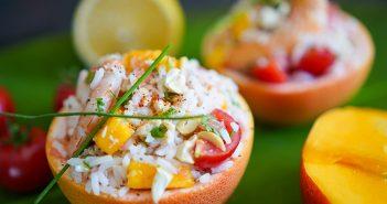 recette pamplemousse crabe crevette