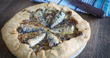 recette tarte aux oignons et sardines