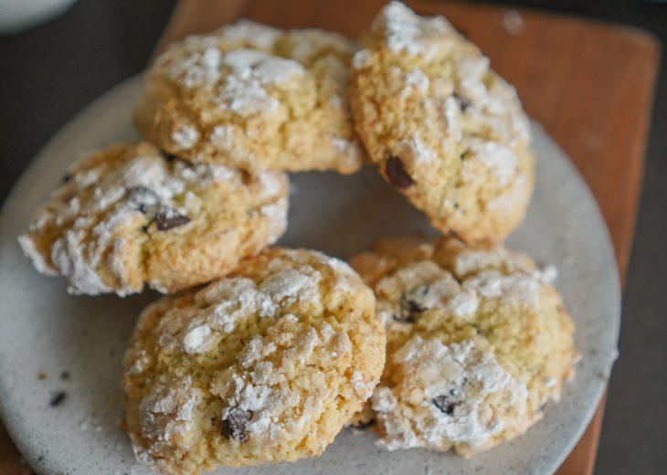 recette crinkles vanille chocolat
