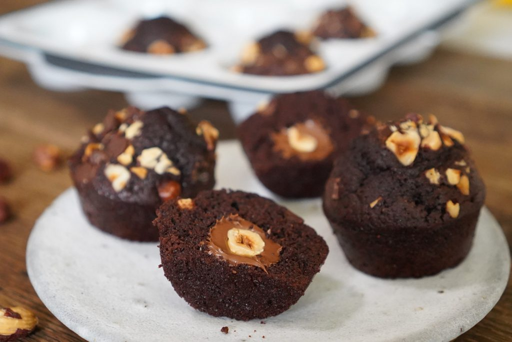 recette muffins chocolat noisette coeur coulant