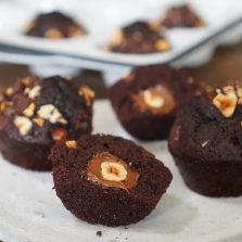 recette muffins chocolat noisette coeur coulant