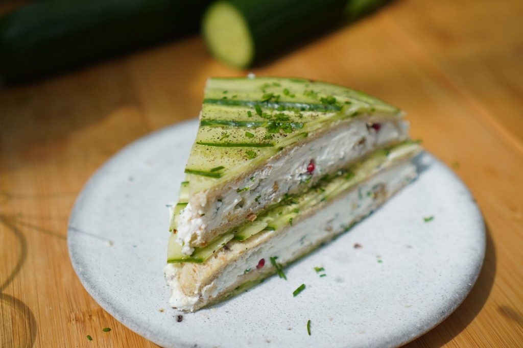 club sandwich chèvre concombre