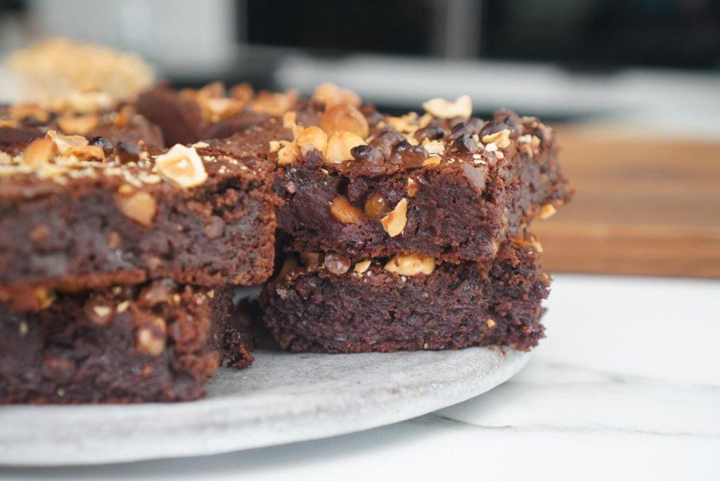 brownie haricots blancs chocolat noisettes d'hier soir Sans beurre, sans oeufs