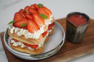 Tiramisu fraises citron ultra frais sans oeufs