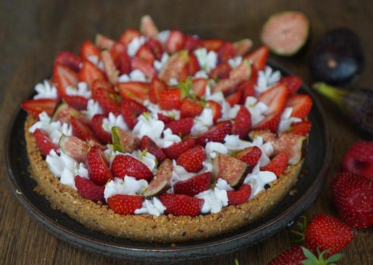 recette de la tarte aux fruits rouges sans cuisson