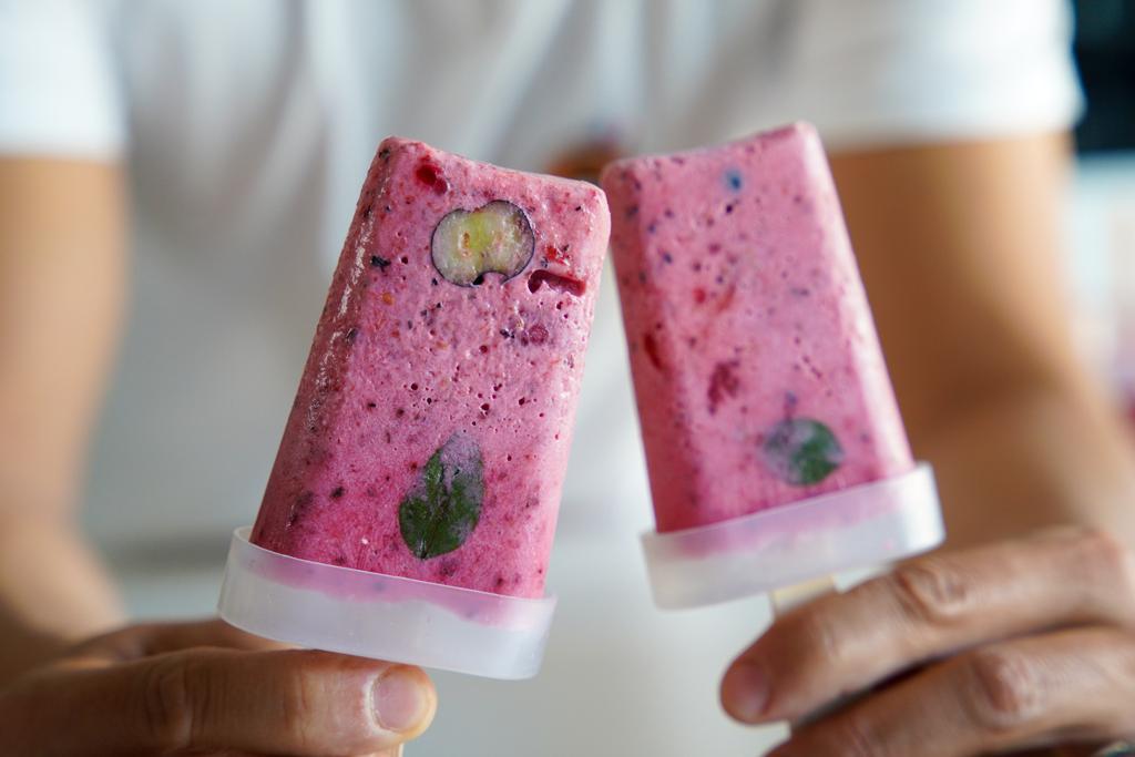 Recette Glaces Popsicle Lait de Coco et Fraises