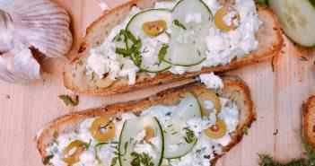 recette du tzatiki grec sur toast