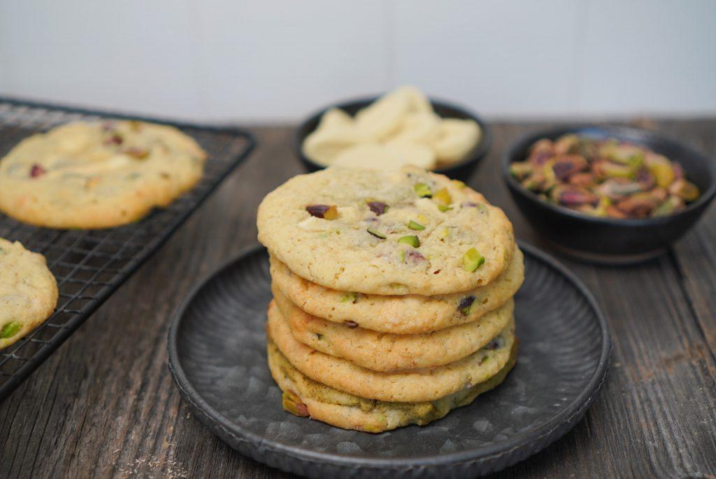 recette cookies chocolat blanc pistaches