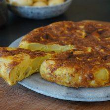 Tortilla pomme de terre oignons
