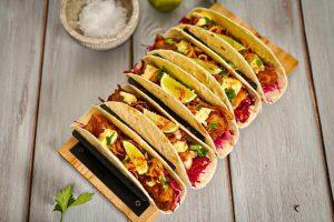 Tacos de poisson au cabillaud islandais