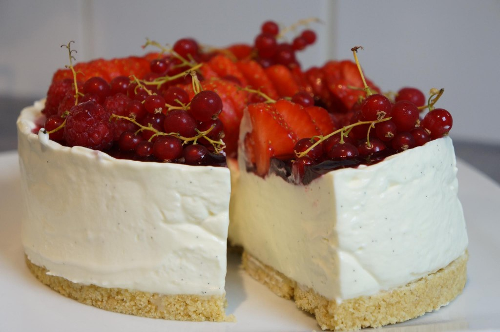 Cheesecake sans cuisson Vanille & fruits rouges ...