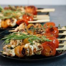 brochettes poulet plancha herve cuisine