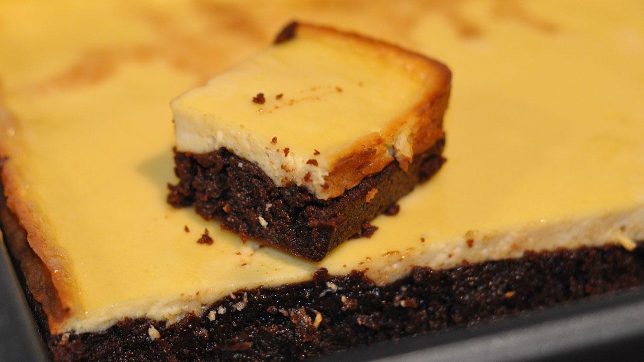 Recette américaine du brownie cheesecake très gourmand