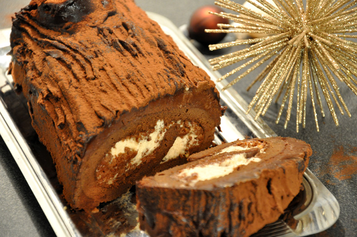B che de no l marrons chocolat pralin for Buche de noel chocolat marron