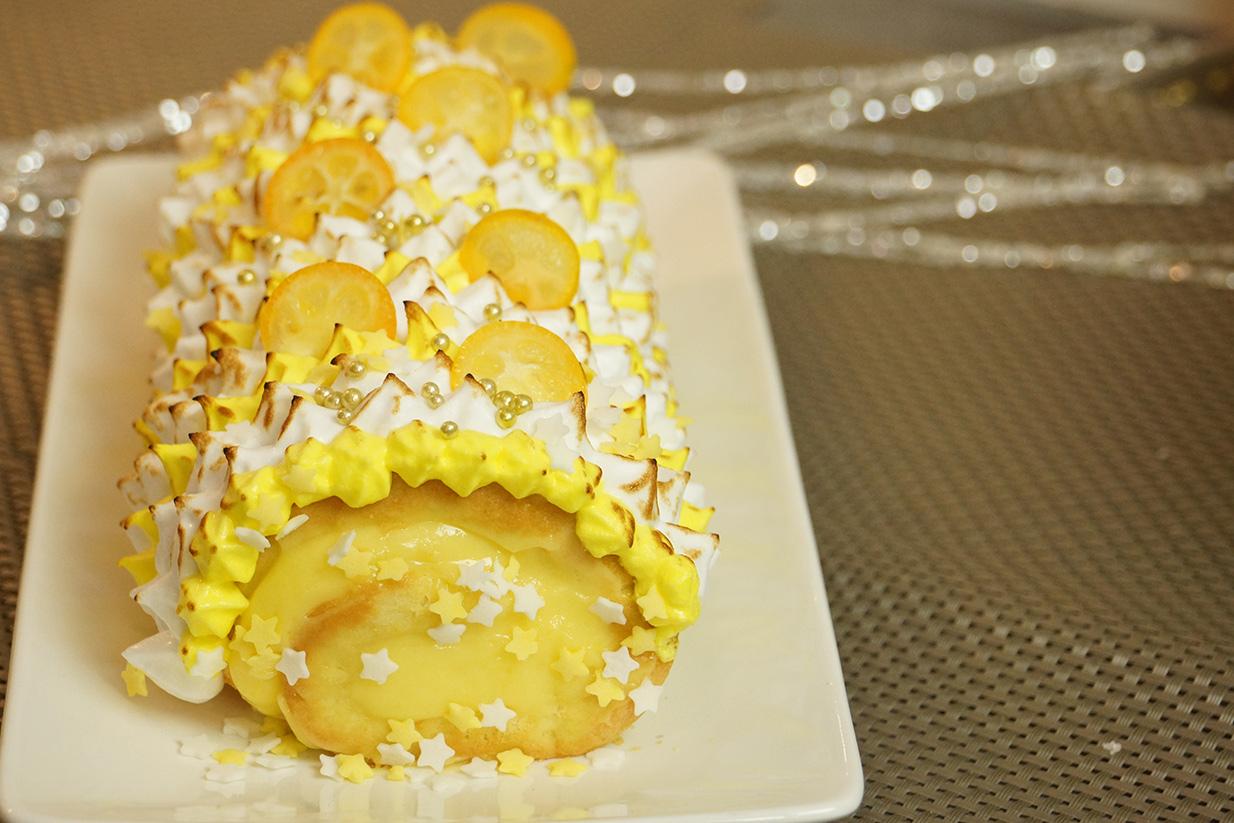 Buche de noel au citron meringue