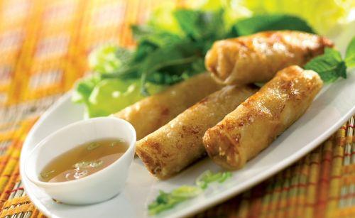 Nems vietnamien au crabe et aux crevettes Nems vietnamiens