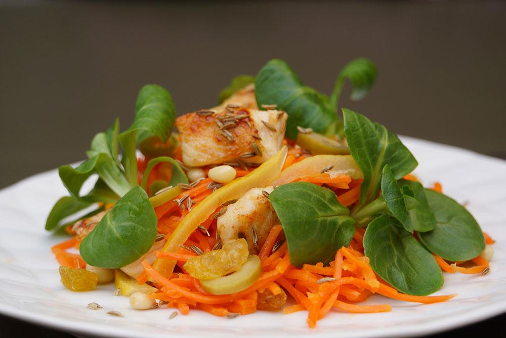 salade carottes orientale hervé cuisine