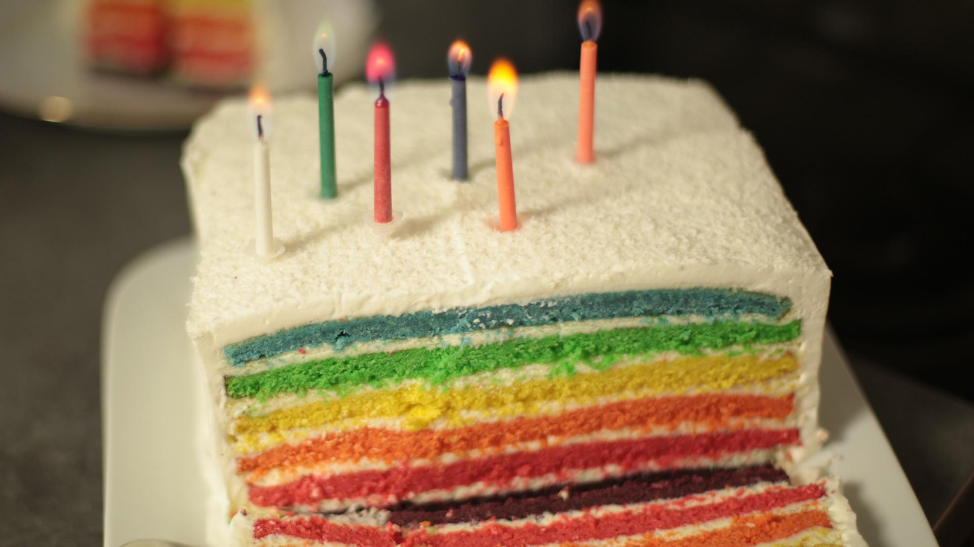 Rainbow Cake Sans Gluten